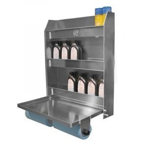 Aluminum Trailer Cabinet with folder welding table