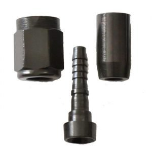 PTFE Crimp Straight Hose End Fitting -3AN