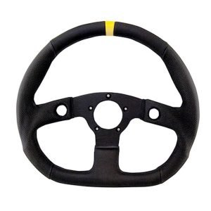 "13"" Grant Performance GT Black Anodized Flat Bottom Steering Wheel"